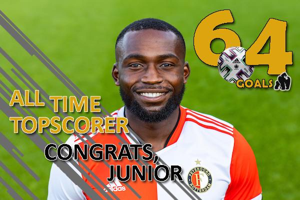 Junior Obiku all-time topscorer van de Sportclub